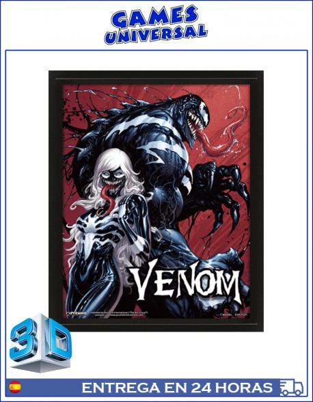 Venom Cuadro en 3D