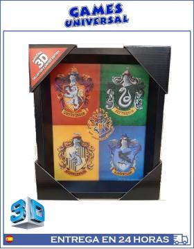 Harry Potter Escudos Cuadro en 3D
