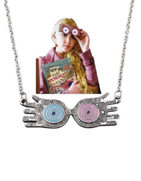 Luna Lovegood Gafas Harry Potter collar colgante metal