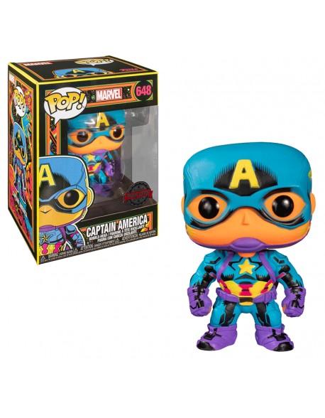 Funko Pop Captain America Black Light Special Edition