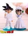 Goku Y Chichi figura especial tartas de bodas Dragon Ball Z 8 cm