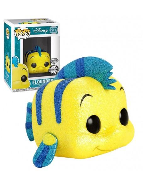 Funko Pop la Sirenita Little Mermaid Flounder Disney Diamond Glitter