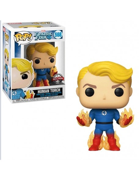Funko Pop Human Torch Fantastic Four 4 Special Edition