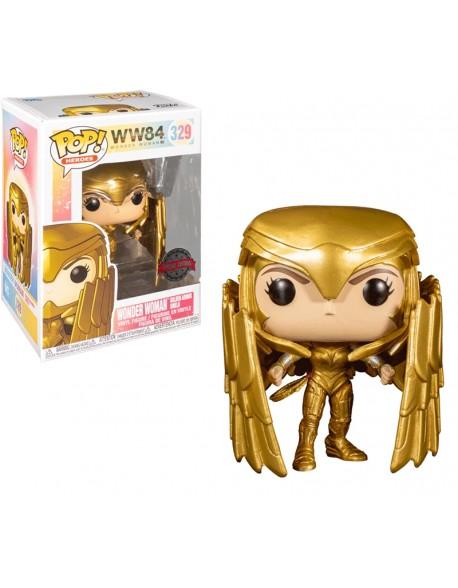 Funko Pop Wonder Woman Golden Armor Shield Special Edition