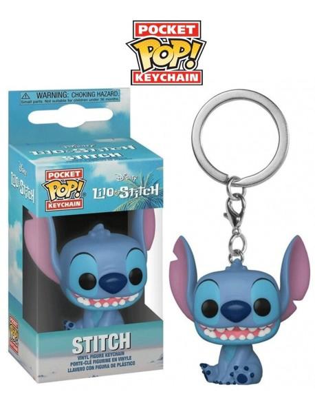 Pocket Pop Stitch Sentado Disney Llavero Funko