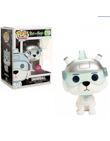Funko Pop Rick and Morty Snowball Exclusive Flocked