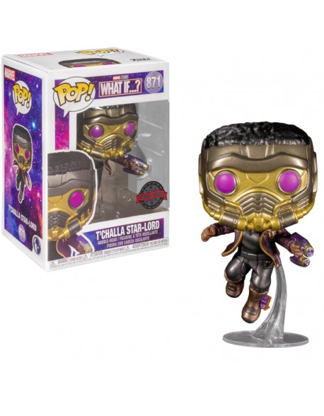 Funko Pop Star Lord Tchalla Marvel What IF Special Edition Metalizado 871