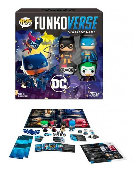 Funko Pop Funkoverse DC Comics 4fig castellano Juego De Mesa