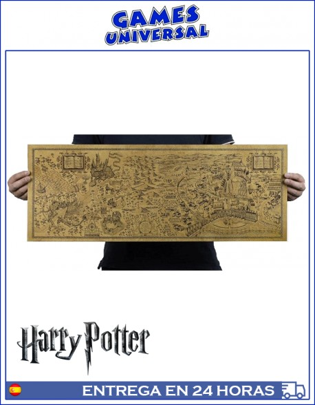 Poster Mapa Mundo Harry Potter