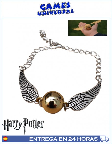 Pulsera Quidditch Snitch dorada Harry Potter