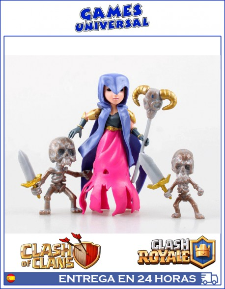 Bruja con Esqueletos Clash of Clans Clash Royale 12 cm