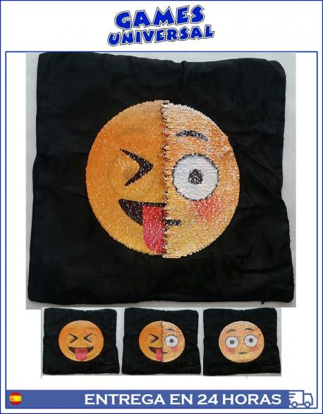 Funda almohada cojín lentejuelas emoticonos 40 x 40 cm lengua
