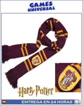 Bufanda Harry Potter Gryffindor 190 cm largo algodon