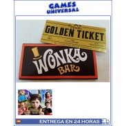 Tableta Chocolate Wonka Charlie y la Fabrica de Chocolate