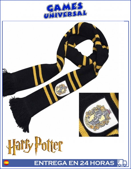 Bufanda Harry Potter Hufflepuff 190 cm largo algodon