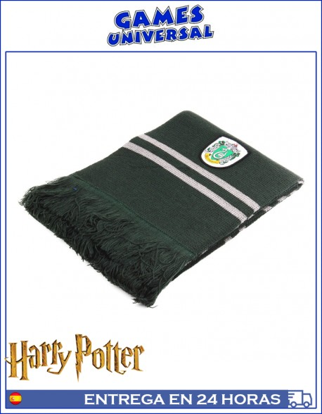 Bufanda slytherin Harry Potter 190 cm largo algodon