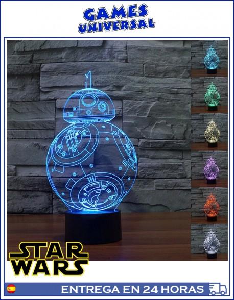 Lampara de ambiente Lampara de ambiente Star Wars BB-8 luz led