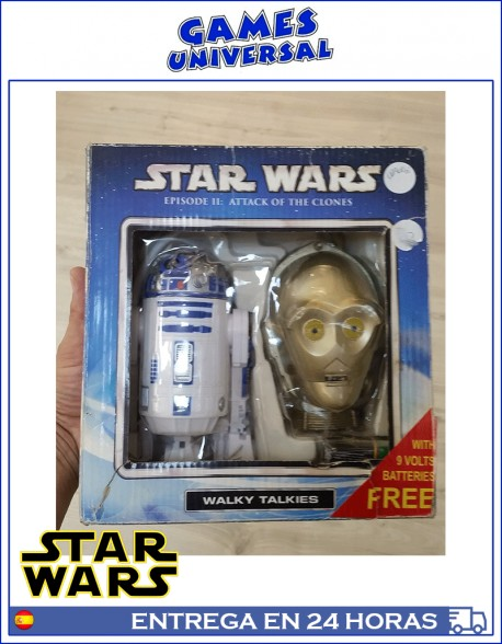 Walky Talkies Star Wars R2d2 y C3po